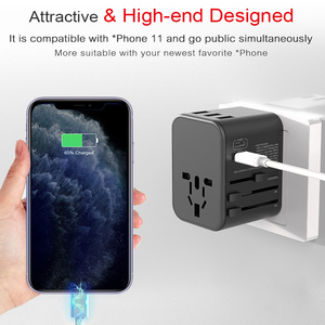 Image 4 - Dual Type C PD QC USB All in one charger adapter for travel with EU US UK AU plug universal travel power charger sockets