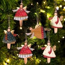 天使新年金属クリスマス装飾品ペンダントハンギングギフトクリスマスクリスマスツリーの装飾ホーム装飾