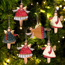 Angel New Year Metal Christmas Ornaments Pendants Hanging Gifts Xmas Tree Decor Home Decoration
