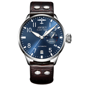 Image 2 - 2019 yeni erkek otomatik Pilot saatler çapı 41.5mm safir kristal 50m su geçirmez moda paslanmaz çelik erkek kol saati