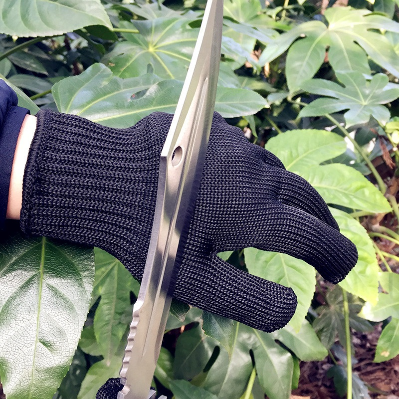 Image 5 - 1/Pair Black Working Safety Gloves Cut Resistant Protective Stainless Steel Wire Butcher Anti Cutting Gloves-in Safety Gloves from Security & Protection