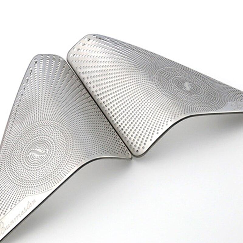 2 шт. из нержавеющей стали для двери автомобиля a-столб твитер аудио динамик декоративная накладка 3D наклейка для Mercedes Benz новый C Класс C200L