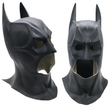 Batman Latex Mask Cosplay Props Costume Superhero The Dark Knight Full Face Masks Halloween