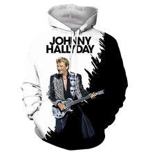 Nova chegada popular johnny hallyday frança impressão 3d dos homens da forma camiseta/moletons/camisolas/colete/topos dropshipping