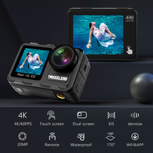 KEELEAD K80 Action Camera 4K 60FPS 20MP  2.0 Touch LCD EIS Dual Screen WiFi 5m body Waterproof Remote Control 4X Zoom Sports Cam