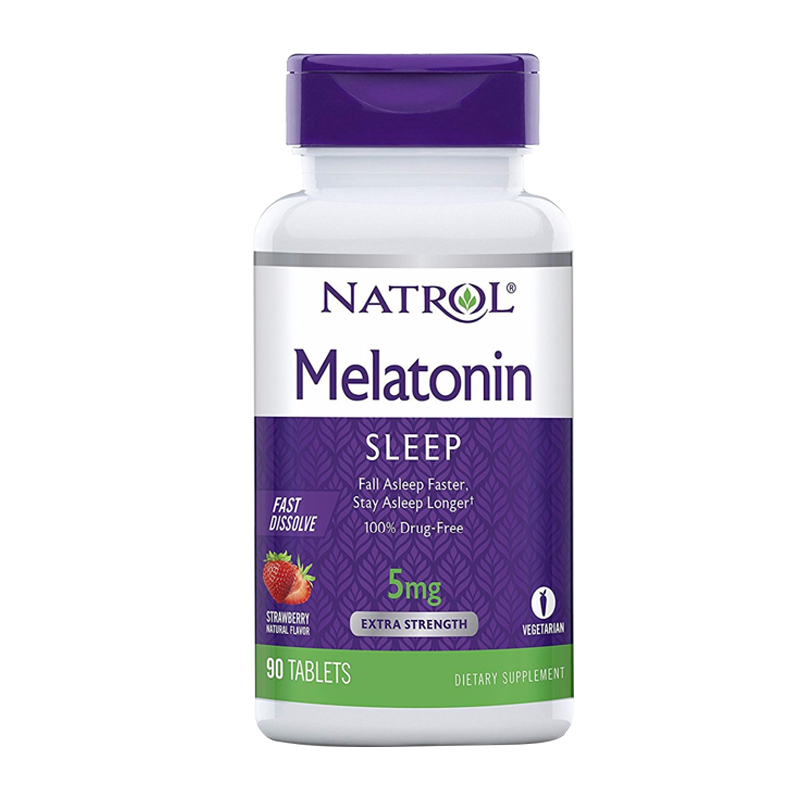Free Shipping Melatonin 5 Mg 90 Pcs Strawberry Taste