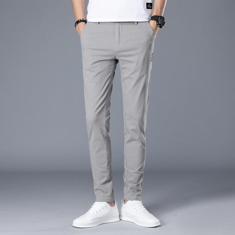 2020 New Brand Men Pants Casual Mens Business Male Trousers Classics Mid weight Straight Full Length Fashion breathing Pant