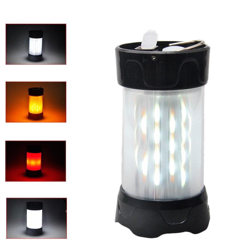 Yeni stil su geçirmez çadır ışığı paramparça dayanıklı dış aydınlatma acil kamp lambası LED modeli alev şarj edilebilir kamp L