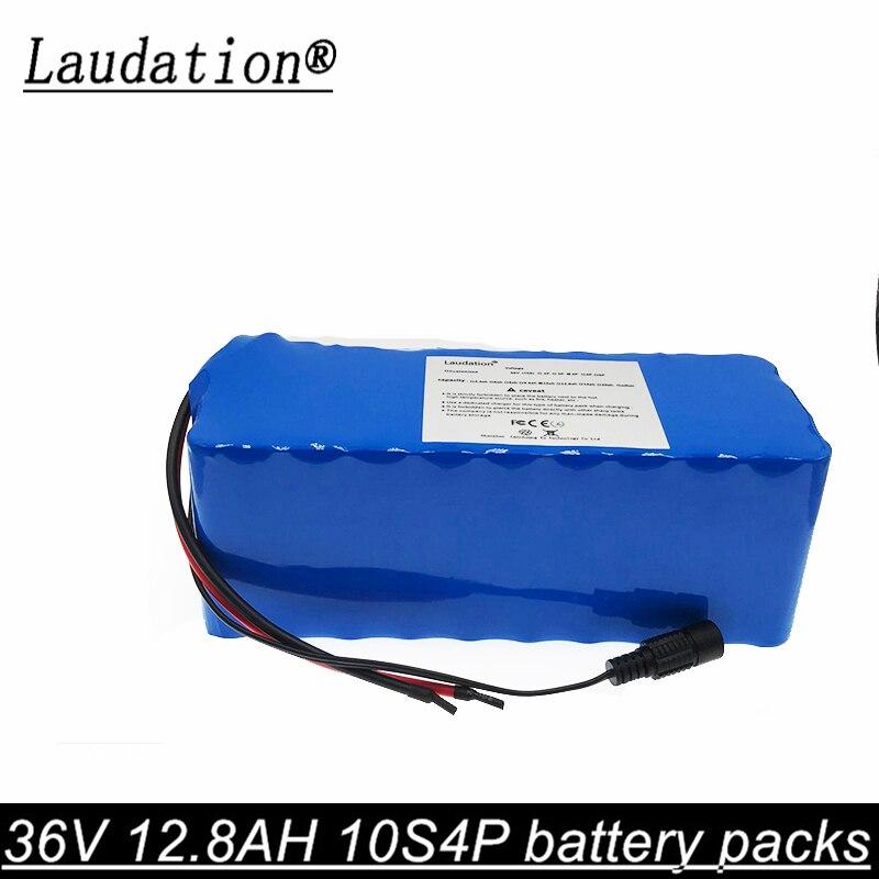 Laudation 36V 12.8AH vélo électrique batterie pack 18650 Li-Ion batterie 500W haute puissance et capacité 42V moto Scooter + BMS
