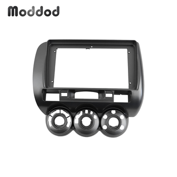 Double Din Car Radio Fascia fit for HONDA JAZZ 2006 MANUAL AC 9 Inch Stereo GPS DVD Player Installation Trim Panel Dah Trim Kit image