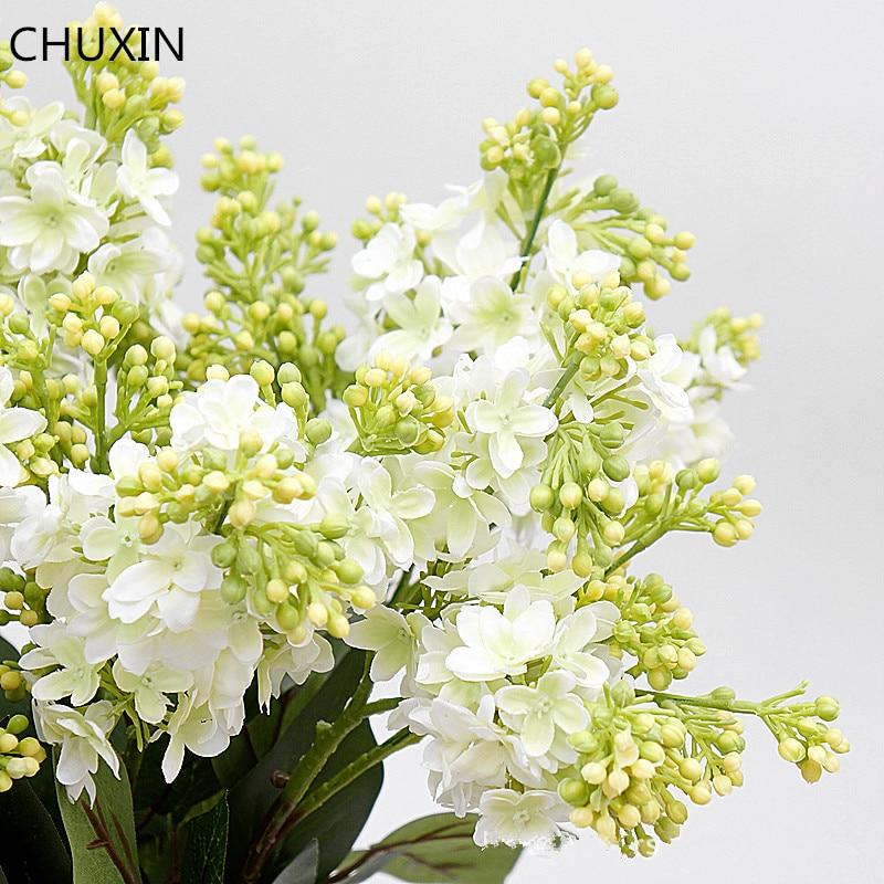 Unique lilas fleur décor à la maison fleur artificielle mariage mariée tenant Bouquet bricolage décoration de haute qualité fausse fleur