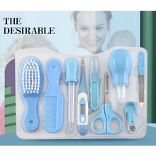 9pcs Care Kit Newborn Baby Nail Scissors Children Kids Trimmer Manicure Tools Thermometer Comb Safe Nursery Set for
