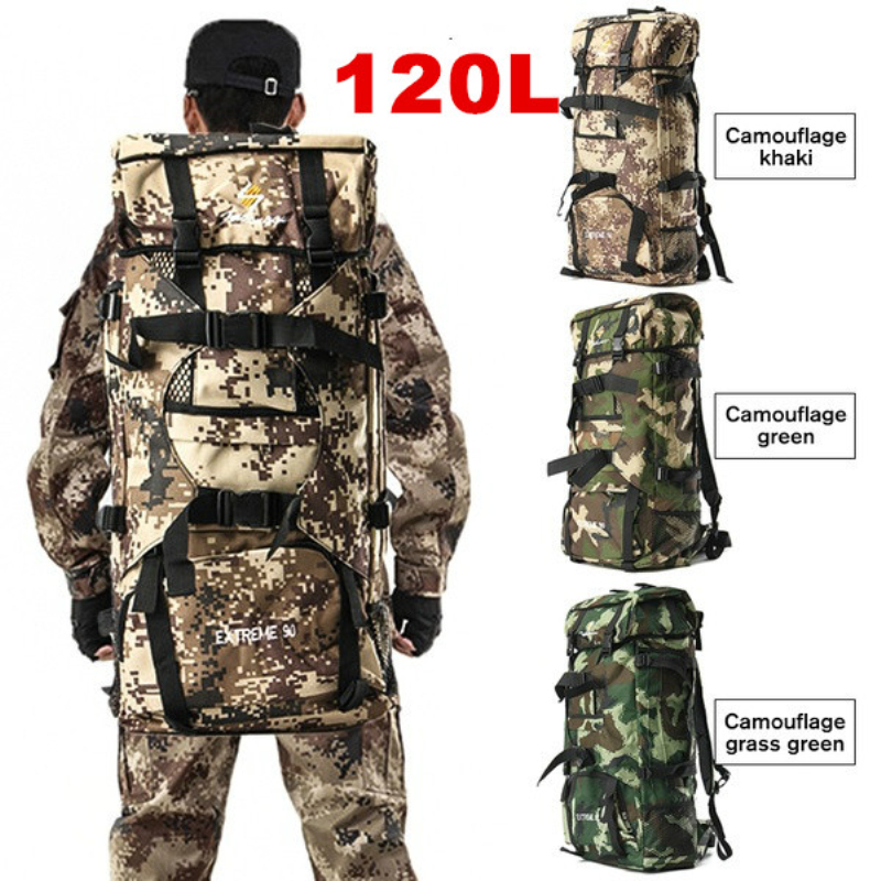 120L Large Capacity Man Tactical Backpacks Military Bags Outdoor bags Camo Backpack For Travel Trekking Camping Hunting Bag