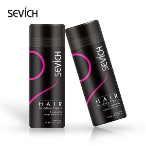 Image 2 - Sevich 5 ชิ้น/ล็อต Hair Building Fiber ผมชุดผลิตภัณฑ์ 25g Keratin Hair เส้นใย * 2 + ผม Holding สเปรย์ + Applicator + หวี
