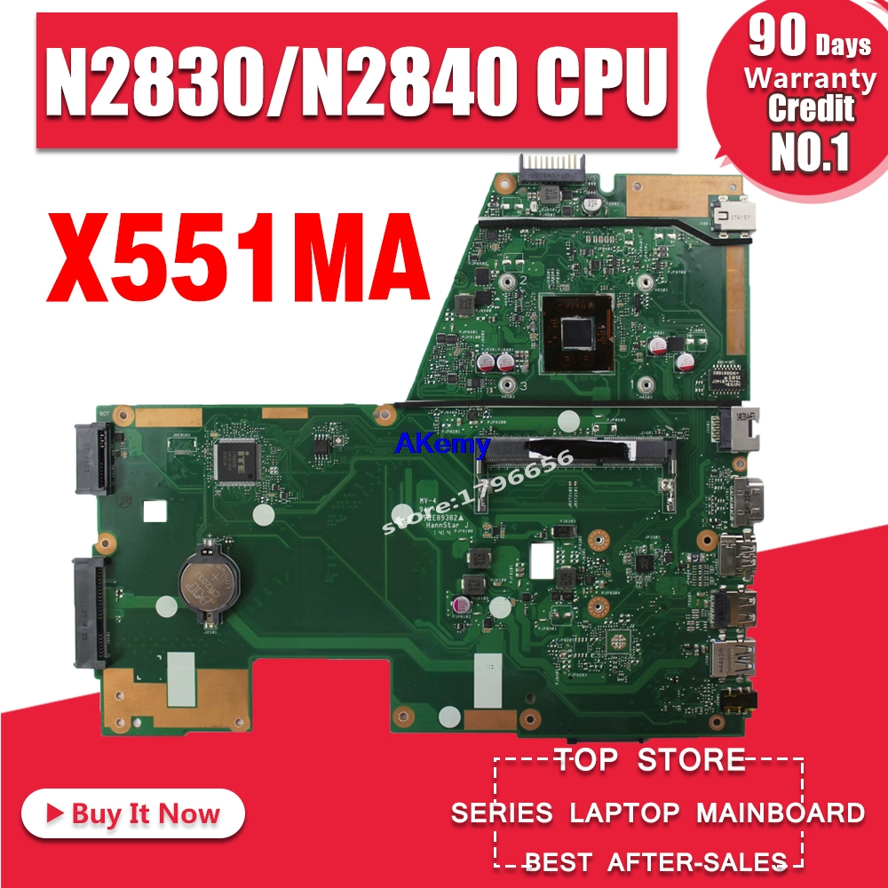 X551MA Motherboard N2830/N2840 CPU For ASUS F551MA X551MA R512MA  Laptop Motherboard X551MA Mainboard X551MA Motherboard Test Ok