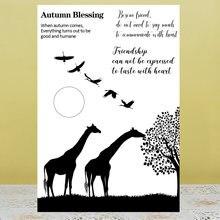 Azsg осенние благословения чистые штампы/печать для diy скрапбукинга