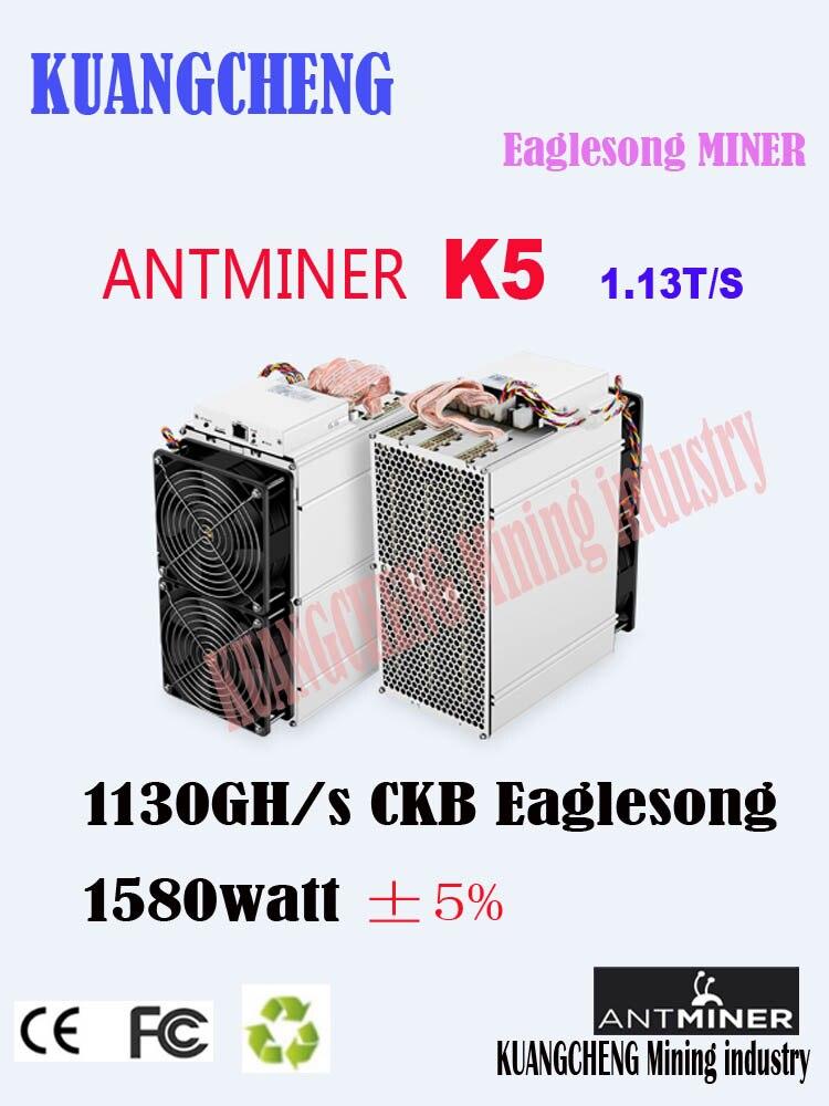 Pre-verkauf asic miner antminer K5 1130GH/S Schiffe auf April 15-20 CKB MINER Besser Als whatsminer M3X M20S Antminer S9 T17