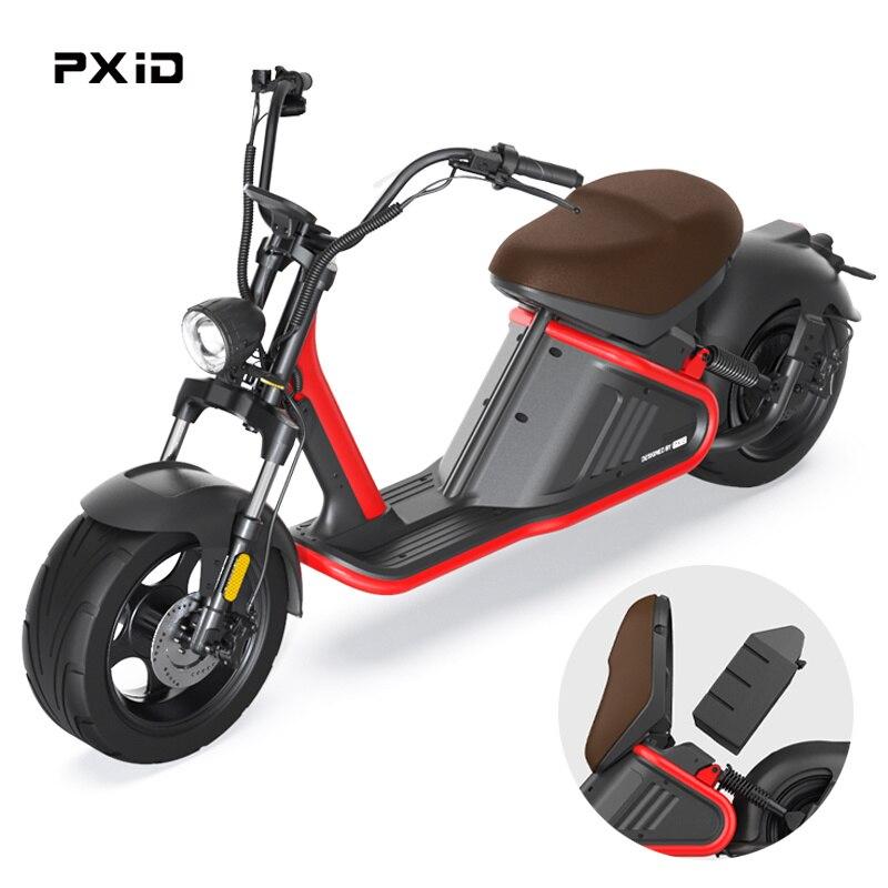 Новое поступление 2021, максимальная скорость 45 км/ч, 3000 Вт, Электрический скутер с масляным тормозом, PXID, алюминиевая рама, Электрический скут...