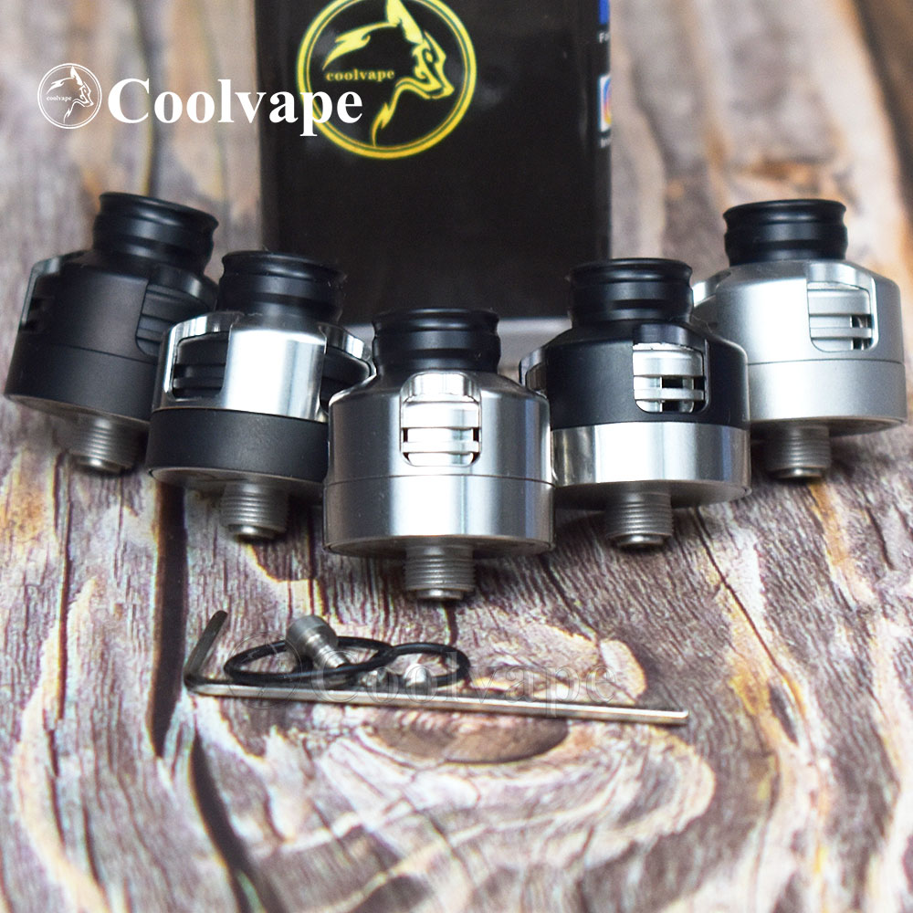2pcs Coolvape Armor Mods Engine Rda With Bf Pin 316ss 22mm Airflow Adjustable Control Single Coil Deck Vs HAKU VENNA V2 Rda