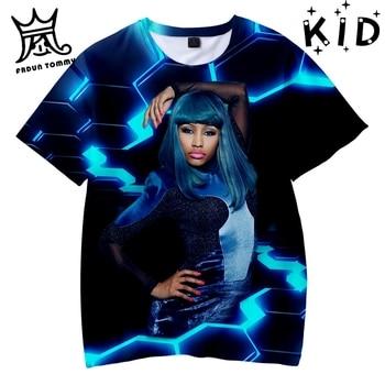 Camisetas de verano para hombre/mujer con estampado de camisetas de manga corta suave Pop 3D de moda Nicki Minaj tops de moda Tee