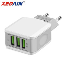 3 USB EU Charger Plug For iphone Samsung Huawei Xiaom Dual Port Travel Wall Mobile Phone Adapter 5V 3.1A