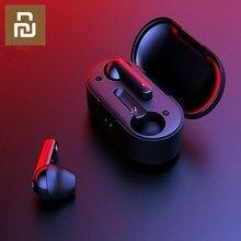 2019 Youpin T3 TWS טביעת אצבע מגע אלחוטי אוזניות Bluetooth V5.0 3D סטריאו כפול מיקרופון רעש מבטל אוזניות