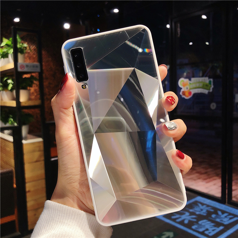 3D luxury Diamond Mirror <font><b>Case</b></font> For <font><b>Samsung</b></font> A50 A70 A30 A20 <font><b>A10</b></font> A40 S10 S8 S9 Plus Note 10 Plus 8 9 A9 A8 A7 A5 Soft Cover shell image