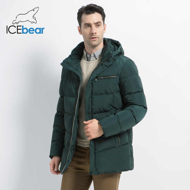 ICEbear 2019 New Men's Winter Coat High Quality Man Jacket Fashion Men's Clothing Warm Male Parka MWD19835D