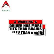 Aliauto 2 X Funny Car Stickers Driver Has More Tits Than Bra