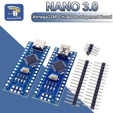 Atmega328 MINI Type-C Nano 3,0 USB V3.0 ATmega328P CH340G модуль 5 в 16 м плата микроконтроллера для Arduino 328P CH340C CH340