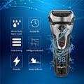 Afeitadora lavable, afeitadora recargable para hombres, afeitadora LED para Barba, afeitadora, cortadora de bigote, cortadora de bigote, batería de carga rápida