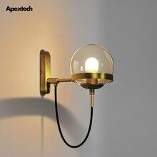 Retro Copper Wall Lamp Vintage Style E27 Light Bedroom Retaurant Coffee Bar Porch Corridor Lights