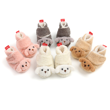 Baby Boots Shoes Snow Newborn Boys Winter Wool Fur Ankle 0-18M Lamb Dog Soft-Sole Firstwalkers