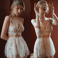 Exotic White Sexy Women Nightdress Sex Bdsm lace erotic costume For couples women gay size