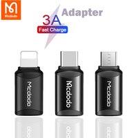Mcdodo-adaptador 3A OTG, convertidor de datos de carga USB tipo C A Lightning a Micro USB, cargador de sincronización para iphone, Samsung, Redmi, Android