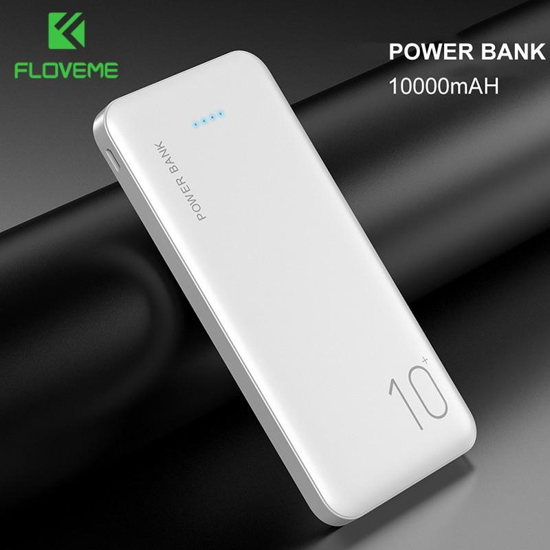 FLOVEME Power Bank 10000mAh Portable Charger For Samsung Xiaomi mi Mobile External Battery Powerbank 10000 mAh Poverbank Phone 1