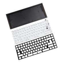 YMDK YMD75 Programmierbare CNC Eloxiert Fall Platte PCB Underglow RGB Für 75% 84 Tastatur ANSI ISO Layout