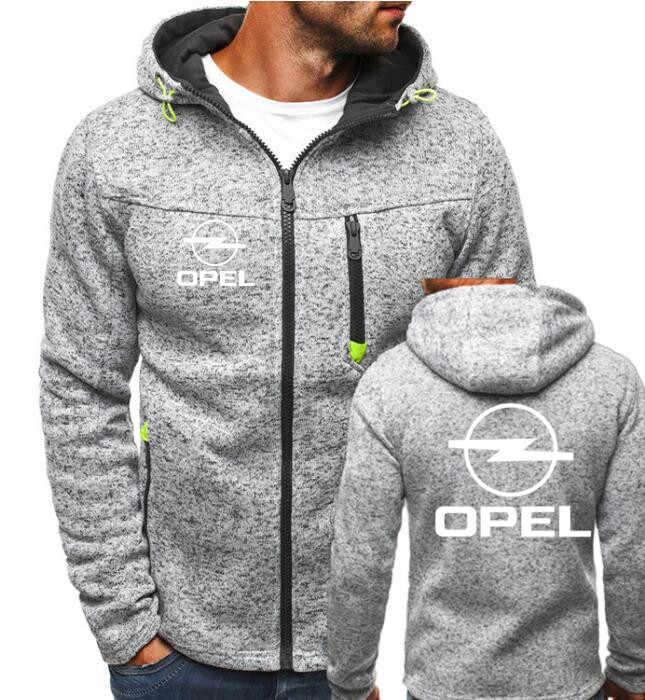 2019 hiver nouvelle mode opel à capuche hommes cardigan à fermeture éclair à capuche Sweatshirts décontracté manteau hauts