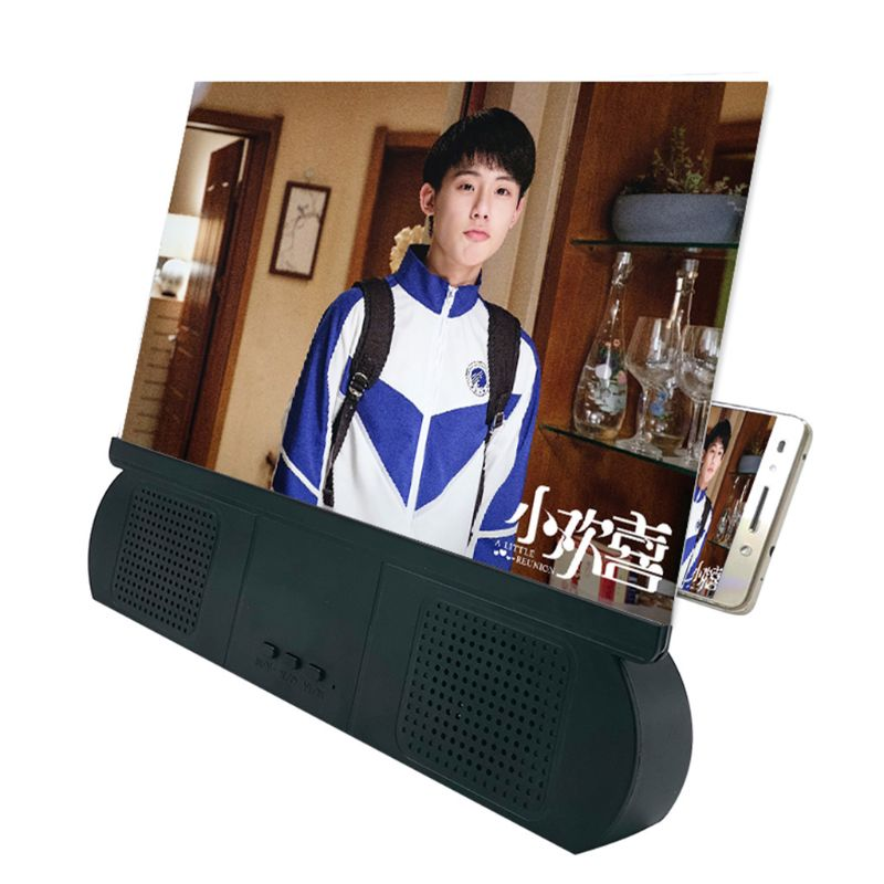 10 inch Mobile Phone 3D Screen Video -HD Amplifying Projector Stand with Speaker