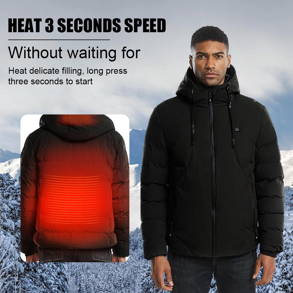 Men Heated Vest Jacket Washable USB Charging Winter Electric Thermal Clothing Waistcoat For Outdoor Camping Skiing Warm Jacket