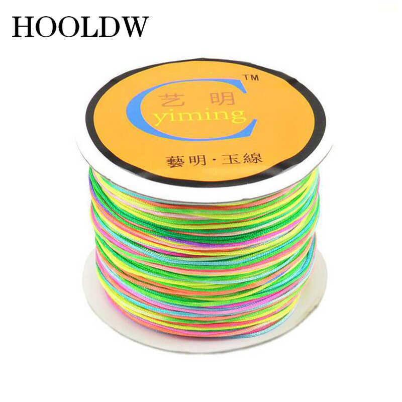 Hot 100M 0.8mm 1mm 1.5mm 2mm Nylon Cord Cotton Cord For DIY Braided Bracelet Necklace Jewelry Making Thread Chinese Knot String