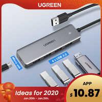 Répartiteur multi-usb Ugreen USB 3.0 3 ports USB3.0 avec Micro-Charge pour MacBook Surface Pro 6 PC accessoires informatiques HUB USB