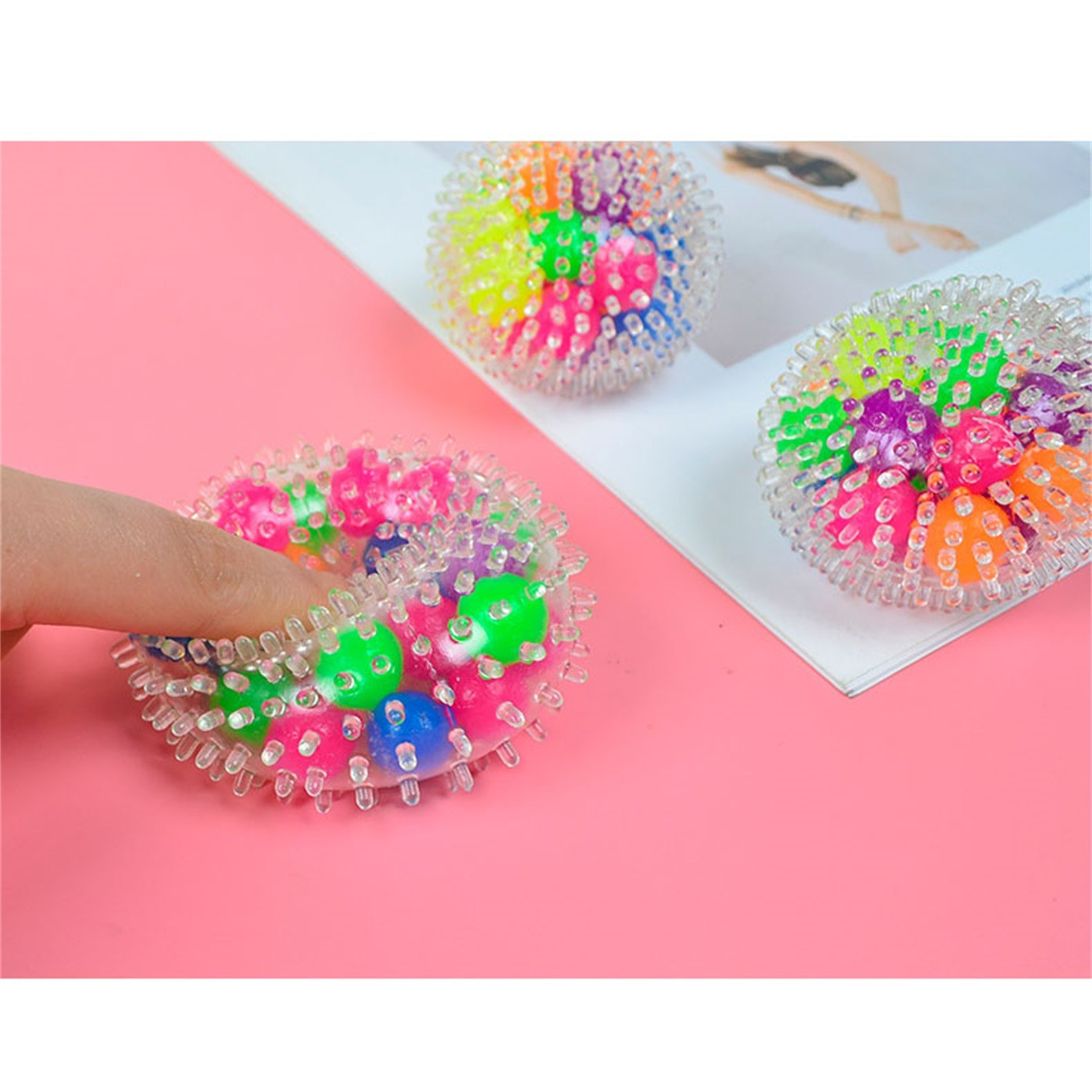 Toy Pressure-Toy Stress Adults for Kids Funny 10PCS Rainbow-Ball Spongy Squeezable Colorful img5