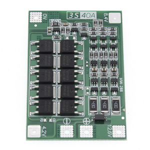 Image 3 - 10 adet 3S 40A Li ion lityum pil şarj cihazı koruma levhası PCB BMS 40A akım matkap Motor 11.1V 12.6V lipo hücre modülü