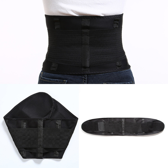 Woman Man Sport Waist Support Belt,Adjustable Lumbar Back Sweat Belt,Fitness Slimming Modeling Body Shaper Waist Trainer Corset 3