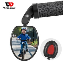 WEST BIKING Bicycle Rearview 360 Rotate Safety Cycing Rear View Mirror Bike Accessories For 18-25MM MTB Bike Handlebar Mirrors