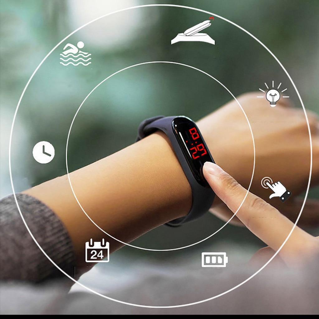 Waterproof Men Women Digital Watch LED Sport Watch Glass Dial Silicone Wristwatch Reloj Deportivo Hombre Reloj Digital Montre *A