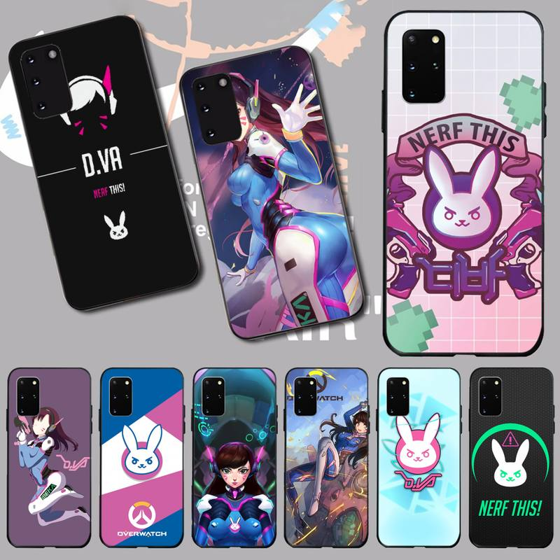 PENGHUWAN OW overwatch D Va Slim Soft Silicone Black Phone Case for Samsung S20 plus Ultra S6 S7 edge S8 S9 plus S10 5G image
