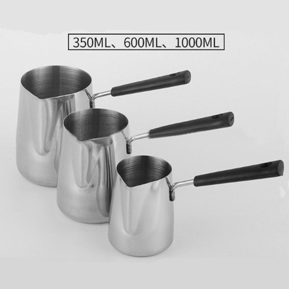 Long Handle Wax Melting Pot Stainless Steel Wax Melting Pot DIY Scented Candle Soap Chocolate Melting Pot Candle Making Tools