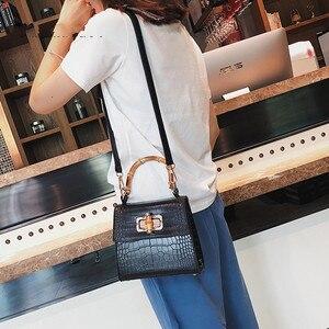Image 4 - Crocodile Women Handbag Top Handle Bags Designer Lock Crossbody Shoulder Bag Small Flap Bag Purse Bolso Femenino Za Sac A Main